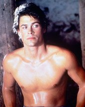 Rob Lowe Barechested Mid 1980'S Color 16x20 Canvas Giclee - $69.99