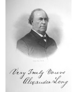 HON. ALEXANDER LONG Pennsylvania Born Lawyer & Congressman - 1883 Portra... - $19.80