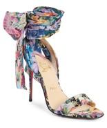 Christian Louboutin Sandale du Desert Sandals Pumps Shoes 37 Satin Flora... - $449.99