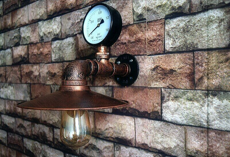 Primary image for Vintage Industrial Wall Lamp Handmade Steampunk Retro Metal Wall Mount Sconce