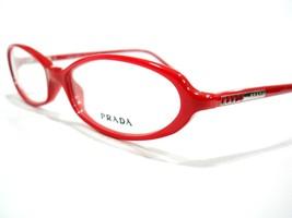 Prada Eyeglasses Frame VPR 19G Red 0BU-1O1 Authentic 52-15-135 - $88.78