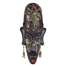 George Jimmy Medium-Sized Carved African Mask Wall Hanging Africa Decor Wall Art - $60.73