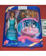 1993 NOS Disney's Beauty and the Beast Figure Doll Be Our Guest Musical ... - $44.53