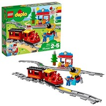 LEGO DUPLO Steam Train 10874 Remote-Control Building Blocks Set  Helps T... - $83.11