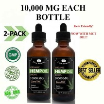 2 Pack Organic Hemp Oil Extract Pain Relief Reduce Stress MCT OIL 10000 mg - $28.49