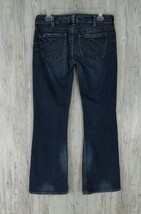 Silver Womens Jeans 30 Tuesday Boot Cut Medium Wash Low Rise Front Zip - $24.65