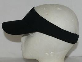 Augusta Sportswear Adult Adjustable Black Sport Twill Visor 6225 image 2