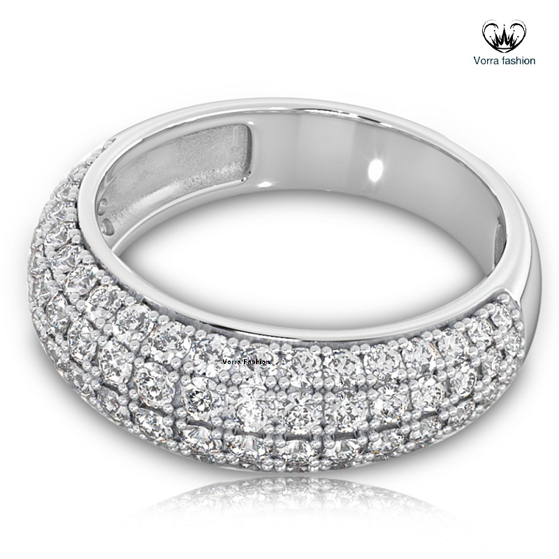 Women's Diamond Engagement Ring Solid 18k White Gold Plated 925 Sterling Silver
