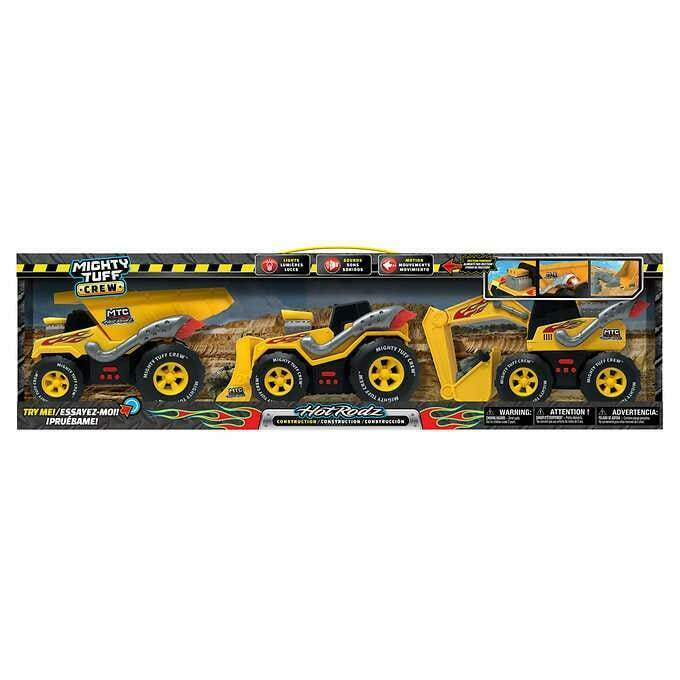 Primary image for NEW Mighty Tuff Crew Hot Rodz Construction Vehicles, 3-pack FREE SHIPPING