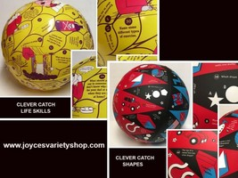 Clever Catch Educational Inflatable Ball Life Skills (gr 1-3) or Shapes ... - $8.99+