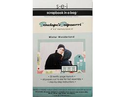 "S.E.I. Scrapbook in a Bag, Winter Wonderland 4"" x 6"" Memory Book Kit"
