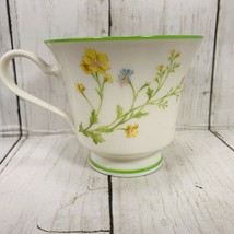 Vintage Noritake China REVERIE 7191 Cup Floral w/ Green Trim Footed Tea Cup EUC - $6.92