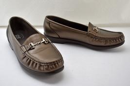 SAS Metro Bronze Slip On Leather Moccasin Toe Loafers - Women's Size 9M - $37.95