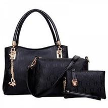 Women 3pcs Tote Bag PU Leather Handbag Purse Ba... - $14.14