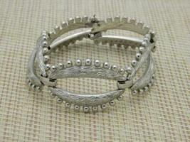 Monet Vintage Silver Tone Modernist Bracelet - $19.80