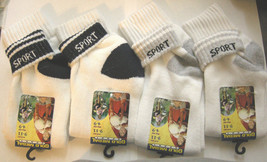 Ladies Sport Socks, Sock Size 9-11 (Shoe 4-9) By Gold Medal, 4 Pairs, Br... - $9.99