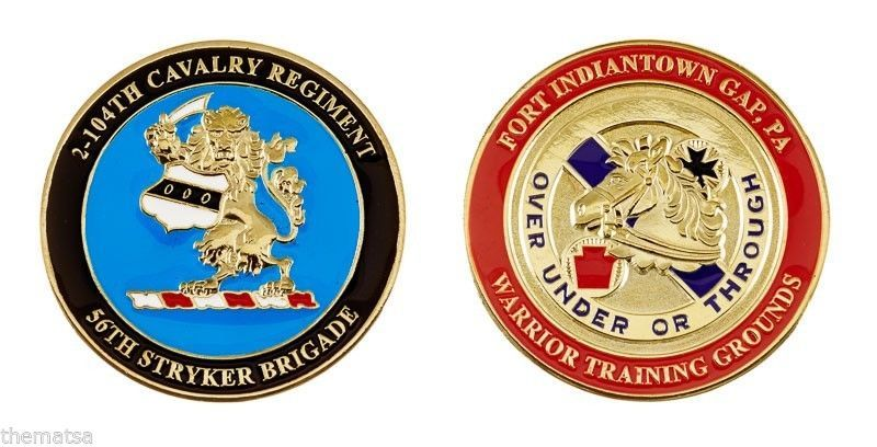 "ARMY FORT INDIANTOWN GAP 56TH STRYKER BRIGADE 1.75"" CHALLENGE COIN"