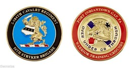 "ARMY FORT INDIANTOWN GAP 56TH STRYKER BRIGADE 1.75"" CHALLENGE COIN - $16.24"