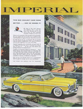 1955 Chrysler Imperial yellow This Man Couldn't Have Done Better Print Ad - $9.99