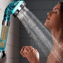 new Blue Anion SPA Water saving Bathroom Shower Head Filtration Handheld Nozzle  - $17.30