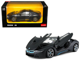 BMW I8 Matt Black 1/24 Diecast Model Car by Rastar - $32.32