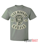GAS MONKEY GARAGE T-Shirt Faux Rocker Patches GRAY New Authentic Fast Lo... - $7.95