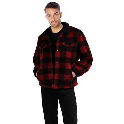 Levi's Men's Premium Button Up Sherpa Trucker Jacket Crimson Buffalo 526380000