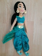 "Disney Jasmine Princess Doll Plush Stuffed Animal 22"" Long Green Dress Soft - $15.57"