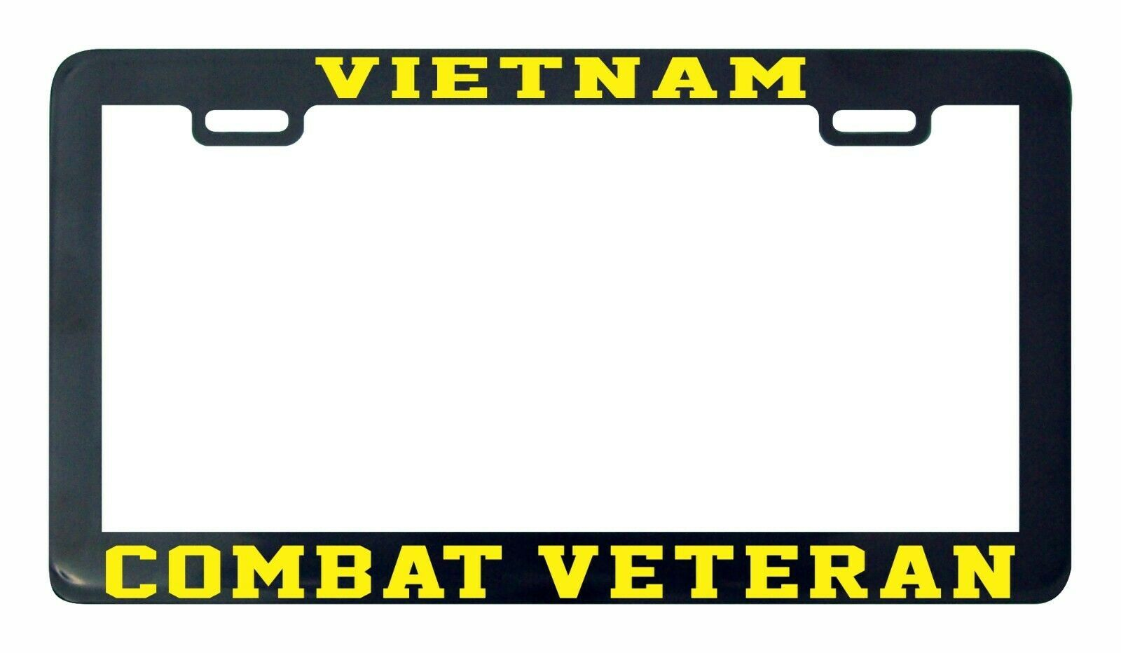 Primary image for Vietnam Combat Veteran Yellow license Plate Frame holder tag