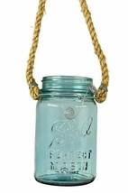 Vintage Ball Perfect Mason Jar Aqua Blue Hanging Jar Indoor Outdoor Decor - $19.59