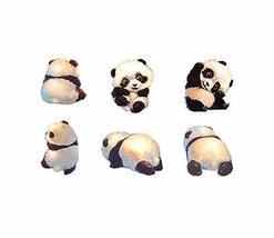 3 Sheets Small Super Cute Panda Baby Temporary Tattoo Stickers Body Art Fake Tat