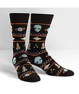 Alien Sweater Sighting Dress Crew Socks New Men Size 10-13 Sock It To Me... - $11.95