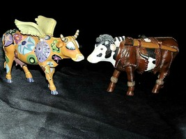 CowParade Angelicow # 9127 and # 7283 Dairy Crockett AA-191933A (Resin)
