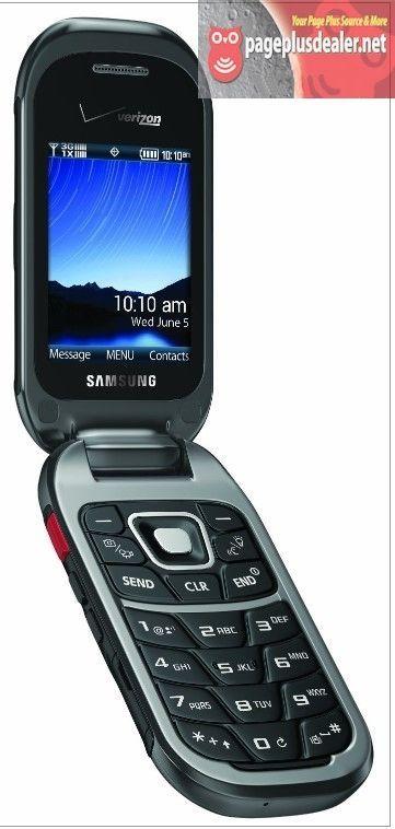 Samsung Convoy 3 SCH-U680 Gray (Verizon)(Page Plus) Cellular Flip Phone Rugged