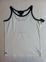 RALPH LAUREN GIRLS NEW WHITE 100%COTTON SLEEVELESS TOP SIZE 6X - $27.12