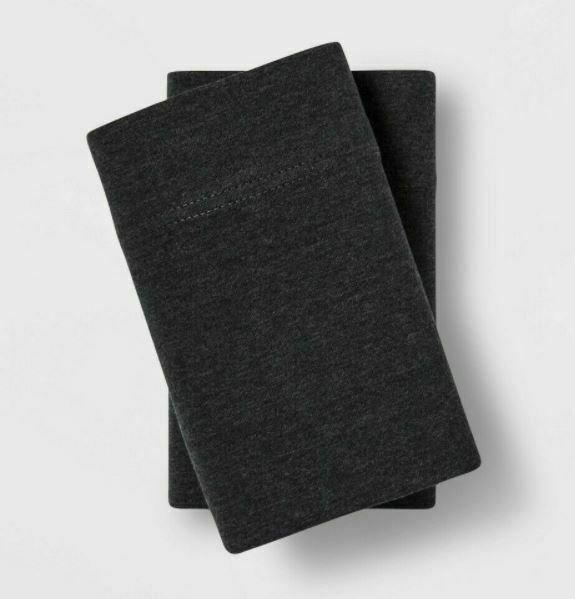 Project 62 Nate Berkus Tencel Lyocell Jersey 2 Pillowcase King Dark Gray NEW