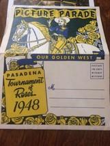 Vtg 1948 Tournament of Roses Parade Souvenir Fold out Pictures ParadePa... - $23.36