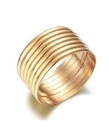 Castillna Set of 7 Pieces Gold Stackable Bracelet Bangle Set for Women - $16.07