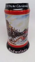 1992 Christmas Anheuser Busch Budweiser Beer Stein Mug Clydesdales Susan... - $27.23