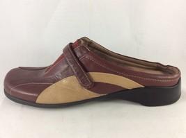 Nine West N-Colleague Womens Burgundy Leather Comfort Slip On Mule 7.5M - €24,18 EUR