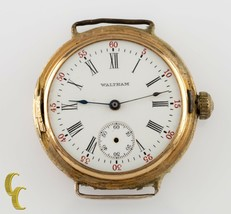 Waltham Antique 14k Yellow Gold Open Face Pocket/Wrist Watch Size 0S 15 Jewels - $675.75