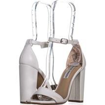 Steve Madden Carrson Ankle Strap Dress Sandals 667, White, 5.5 US - $30.71