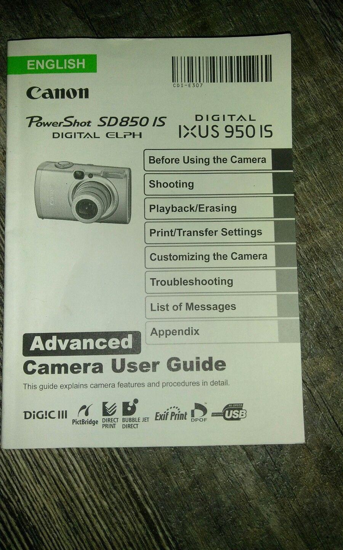 canon powershot sd850 is ixus 950 is digital and 42 similar items rh bonanza com Canon S5is Camera Canon EOS Basics