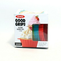 OXO Good Grips Reusable Silicone Baking Cups, 12 Pack - £13.02 GBP