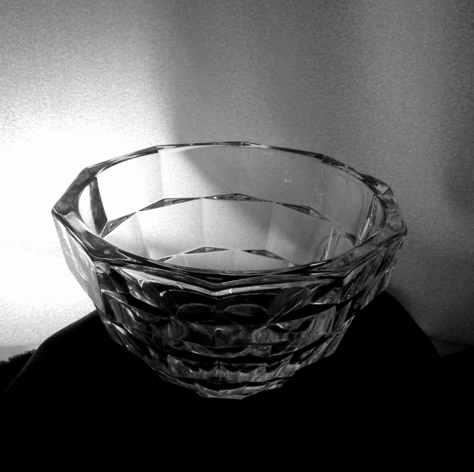 "Primary image for Kosta Boda OPUS 6 1/2"" Dia Clear Panel Block Bowl Discontinued Rolf Sinnemark VF"
