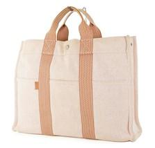 Authentic HERMES Fourre Tout MM Orange Canvas Tote Hand Bag #22784 - $195.00
