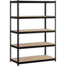 """Muscle Rack 48""""W x 24""""D x 72""""H 5-Shelf Steel Shelving Black - $85.07"""