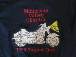 Minnesota MN Motorcycle Valley Chapter 1996 Yupper Run T Shirt Size L - $2.99