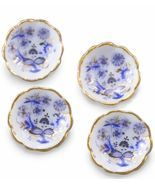 Dollhouse Dessert Bowl Set/4 Reutter 1.352/5 Blue Onion Miniature - $13.75