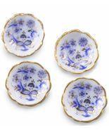 Dollhouse Dessert Bowl Set/4 Reutter 1.352/5 Blue Onion Miniature - $20.16